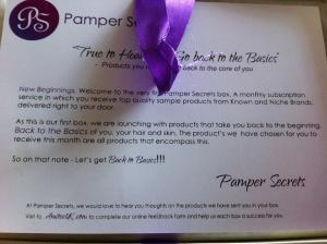 Amitee Pamper Secrets Beauty Box