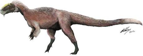Artist rendition of the Yutyrannus: image via blogs.discovermagazine.com/