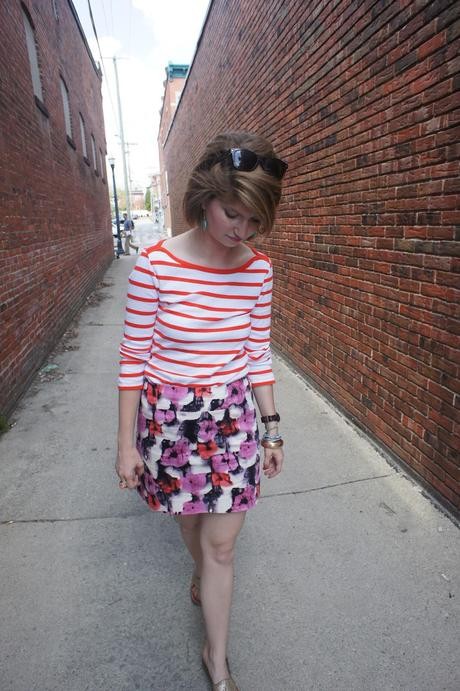 Outfit post: stripes and florals