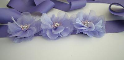 Lavender purple Bridal Sash - Custom Order