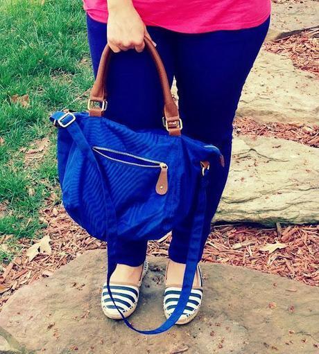 Cobalt blue Longchamp-esq Old Navy bag