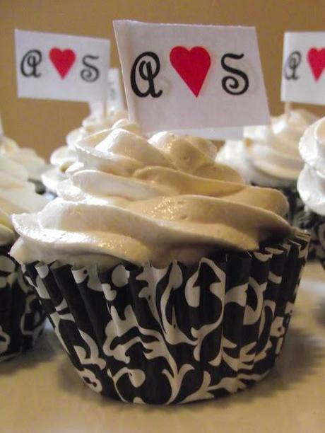 Wedding Shower Cupcakes with Flags