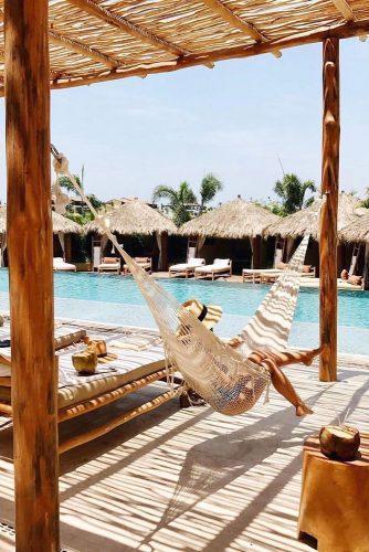 hawaii honeymoon four seasons hammock near the pool thesimplesol via instagram