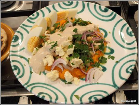 An Ottolenghi-style salad