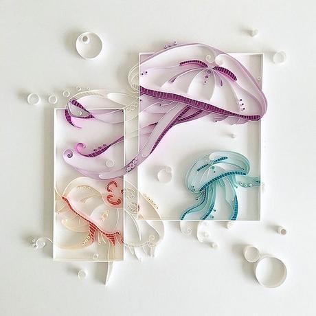 Quilled Jellyfish by Akiko Makihara