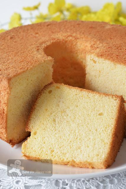 cottony soft orange chiffon cake