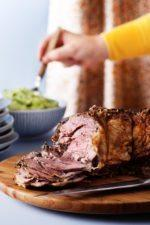 Lamb Roast with Broccoli Purée