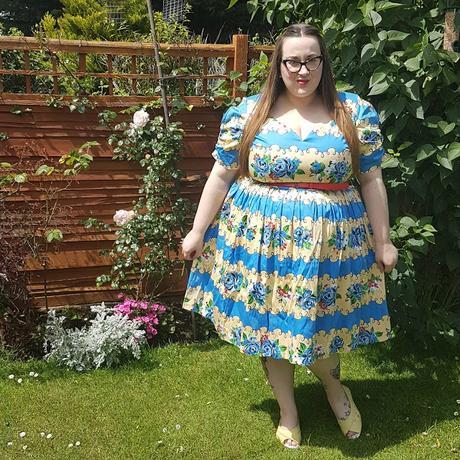 Lindy Bop Francine rose stripe swing dress
