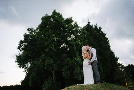 bride and groom at the heart of england