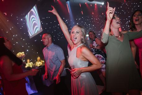 bridesmaid dancing at the heart of england