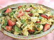 Strawberry Caprese Pasta Salad #ImprovCookingChallenge