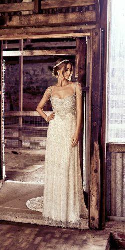 vintage sheath embellished wedding dresses anna campbell