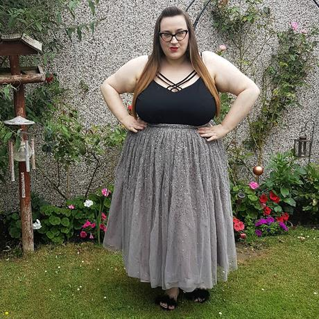 ASOS CURVE Tulle Prom Skirt with Embellishment