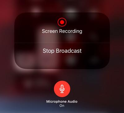 iOS 11 Screen Recording and Screen Broadcasting