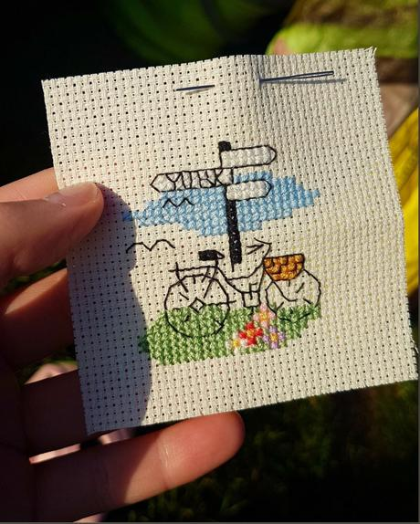 THE BICYCLE CROSS STITCH