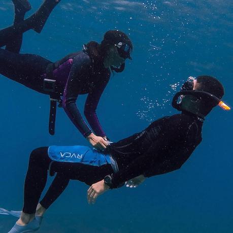 Free Diver Couple