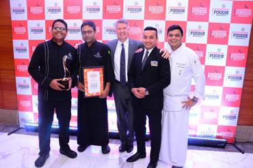 Executive Chef Neeraj Rawoot, Senior Sous Chef Saurabh, General Manager Michel Koopman, Spectra Manager Amit Minhas, Sous Chef Prathmesh