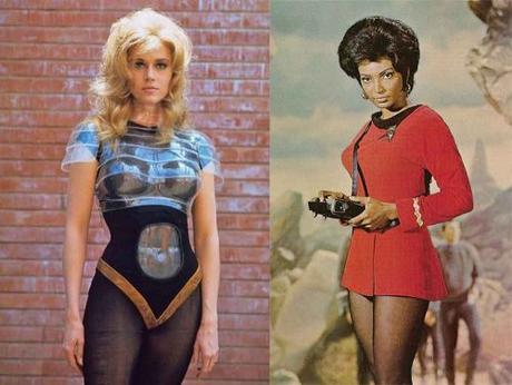 Barbarella-and-Uhuru---1960s-retro-future-fashion