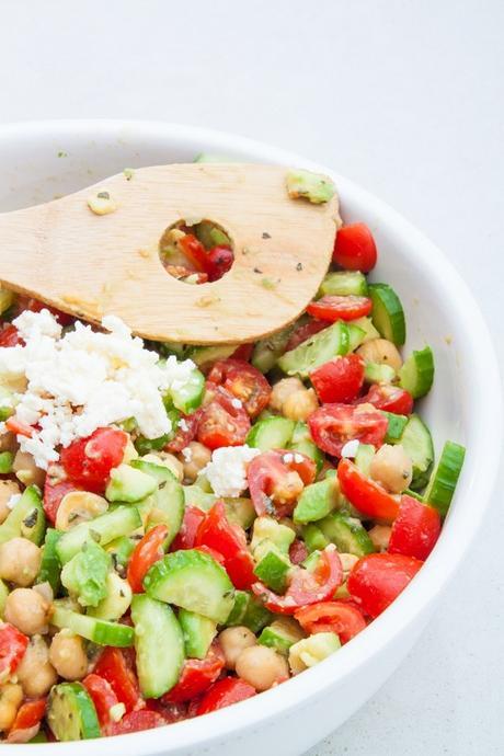 Chickpea, Tomato, and Feta Salad