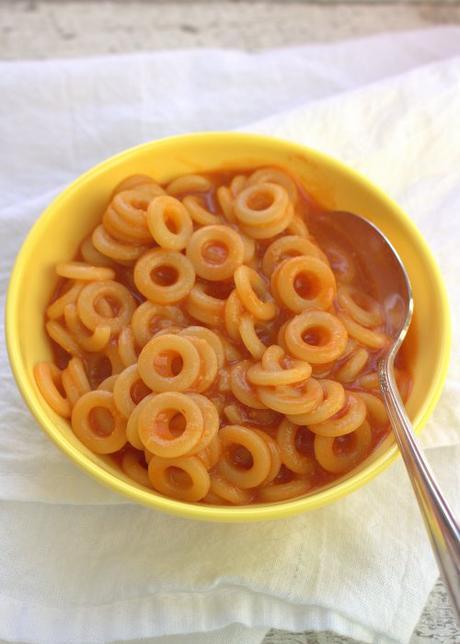 Spaghetti Rings in Tomato Sauce