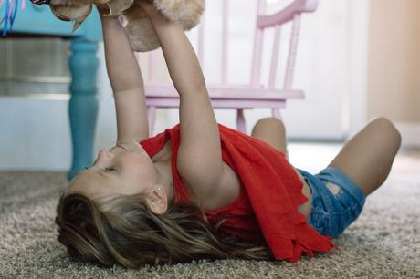 Get down on the floor and play with your kids. I know you're tired and playing doesn't come as easily anymore. But just a few minutes a day will keep your kids happy and help your relationship grow.