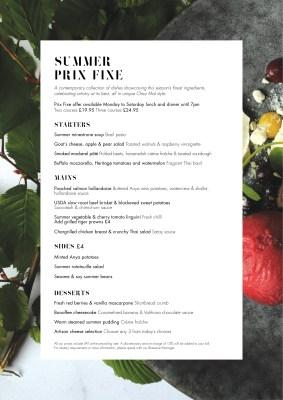 New Summer Menu and Cocktails at Chez Mal