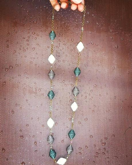 Crimped Paper Long Necklace by Art By Heart Sara Fontana