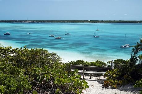 boats anchored bahamas