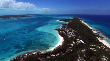 Stocking Island Exumas Bahamas drone