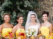 Yellow Bridesmaid Dresses Make This Bright
