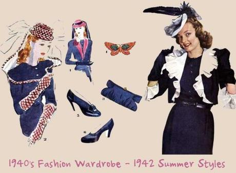 1940's-Fashion-Wardrobe---1942-Summer-Styles-
