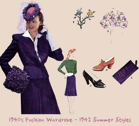 1940's-Fashion-Wardrobe---1942-Summer-Styles-