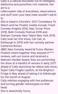How publicists can easily lose you an Edinburgh Fringe award nomination