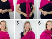 Ways Wear Pashmina Wrap Over Evening Dress