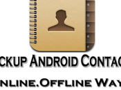 Ways Backup Android Contacts