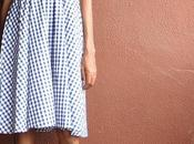 Duty Style Blue Gingham Dress