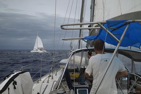 Off Samana on VHF with Akira