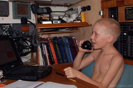 boy on radio