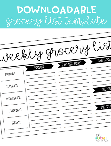 Living Your Best Life + Free Grocery List Template