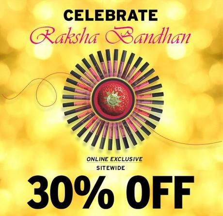 The Body Shope opens its heart this Rakshabandhan and gives 30% off. Yay!!