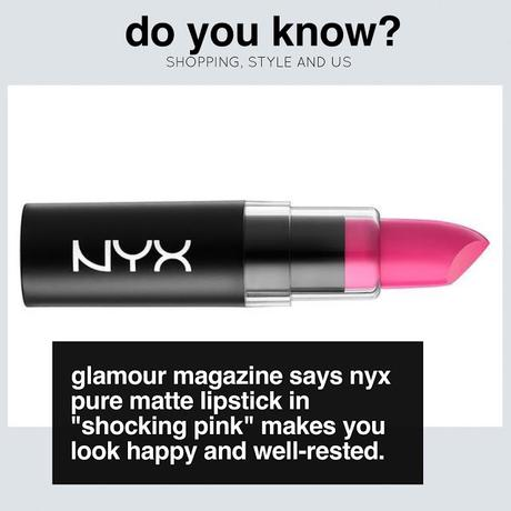 Do you know that NYX most selling ick lipstick in US is Shocking Pink?