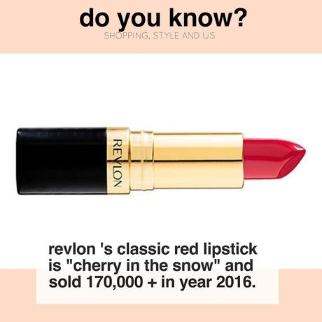 Do you know that Revlon's classic red lipstick is Cherry In The Snow?