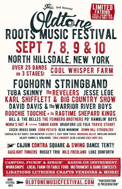American Roots Acoustic Music Festival Returns to Cool Whisper Farm - 3RD ANNUAL OLDTONE ROOTS MUSIC FESTIVAL - Hillsdale, NY, September 7-10