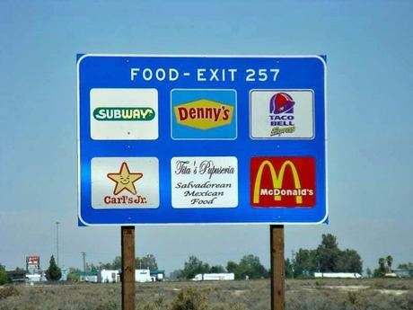 food road signs
