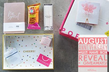 """August """"Anniversary"""" Must Have Box Reveal + Giveaways!"""