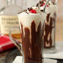Bourbon and Hot Fudge Milkshake