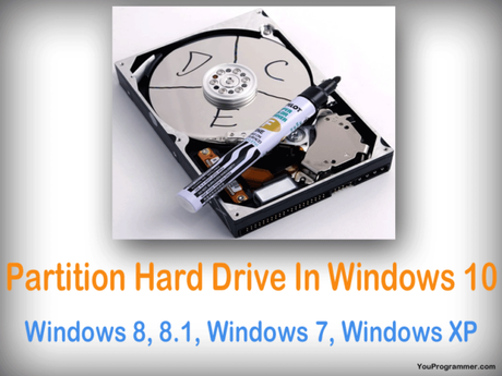 How To Partition Hard Drive In Windows10