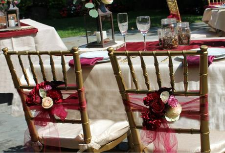"""Falling In Love"" Burgundy & Gold Wedding Inspiration"