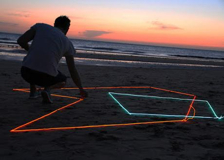 Summer, beach, sand and Neon with Spidertag