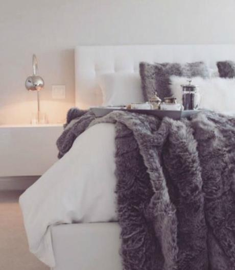 bed with fur